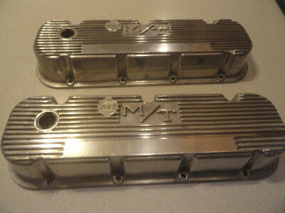 Vintage Mickey Thompson Aluminum Valve Covers M/T 3276396 Big Block Chevy 427