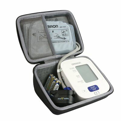 Hard Travel Carrying Protective Case Upper Arm Blood Pressure Monitor Storage