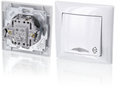 Up On-Off/Two-Way Switch with LED Lighting – All-in-one caddy with Flush-Mounted