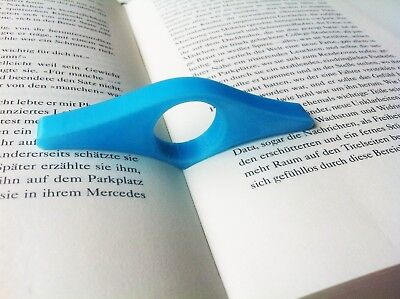 4x Thumb Page Book Holder, Seitenhalter Buchhalter, Blue, Gift