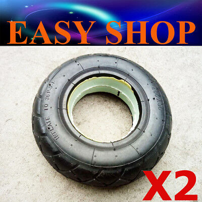 2X Foam Solid Tyres 200x50 Tubeless Scooter Go Kart Wheelchair Trolley Mobility