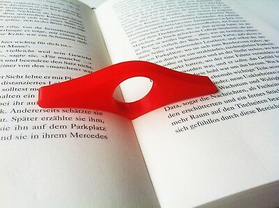 4x Thumb Page Book Holder, Seitenhalter Buchhalter, Red, Gift
