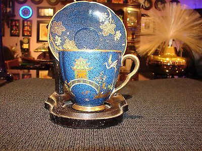 Stunning rich Vintage Carlton Ware Cup and Saucer Blue and Gold