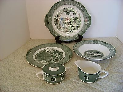 "Royal China "" Old Curiosity Shop""  Dinner,&Cake plates, Bowl.C & S."