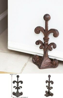Cast Iron Door Stop Old Vintage Antique Design Decorative Stopper Wedge NEW
