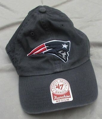 the latest e8bc3 51471 New England Patriots 47 Brand NFL Navy Franchise Fitted Hat Cap Medium NWT