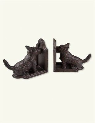 Victorian Trading Co Cast Iron Scottie Dog Scottish Terrier Bookends