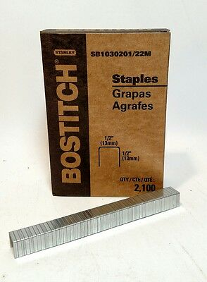 "Bostich  1/2"" x 1/2"" Staples  - 2100 per box"