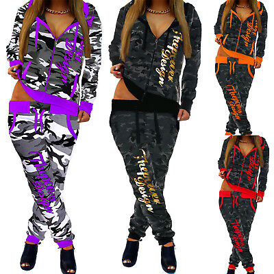 camouflage damen jogginganzug jogging hose jacke. Black Bedroom Furniture Sets. Home Design Ideas