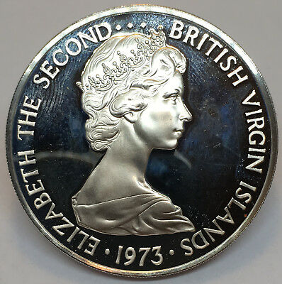 1973 British Virgin Islands Proof One Dollar - Elizabeth II