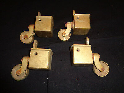Solid Brass Square  Toe Castors X 4./ For Table Chair Sofa Legs