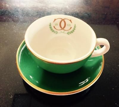 Vintage Shenango China Cup & Saucer Restaurant-Ware Double C Country Club Green