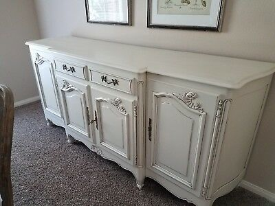 Antique French Country Sideboard, Painted