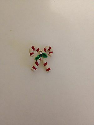 Vintage Christmas Candy Cane Brooch Pin