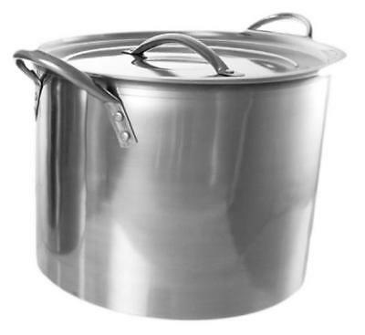 Large Stainless Steel Stock Pot Quality Cookware Chef Kitchen Family Big Cooking