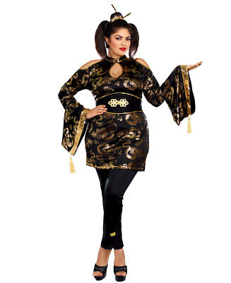 New Dreamgirl 10652X Plus Size Golden Geisha Costume