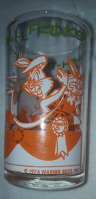 1974 TH-TH-TH- THAT'S ALL FOLKS!  Warner Bros. Jelly Jar Glass