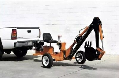 Towable Ride On Trencher backhoe 9hp motor, 7 feet digging depth