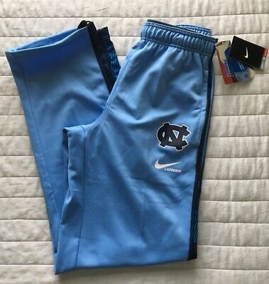 Men Nike Therma Fit UNC North Carolina Tar Heels Lacrosse Warm Up Sweatpants NWT