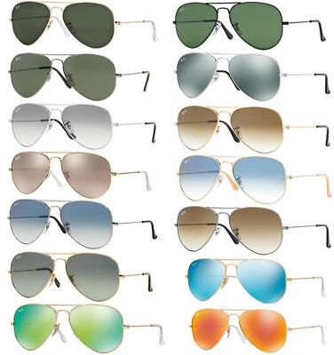 Ray Ban sunglasses RB3025 Aviator - Blue Green Gold Red Blue Siver Mirror Lens