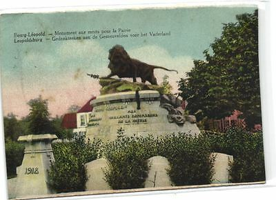 1 old postcard Camp Beverloo monuments aux morts