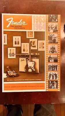 NOS original 1963 1964 Fender Electric instrument catalog stratocaster precision