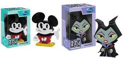 Set 2pcs Disney Maleficent Mickey Mouse Funko Blox Vinyl pop toy Figure new READ