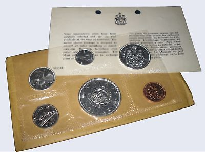 """1964 Canada""""Proof Like"""" Silver Coin Set (43.15 Grams .800 Silver)"""