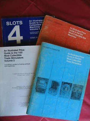 4 Lot of Dick Bueschel Illustrated Price Guide Slot Machines Trade Stimulators