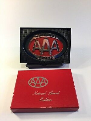 National Award Emblem AAA (Cherry Red / Chrome Variant) EXCELLENT NOS CONDITION
