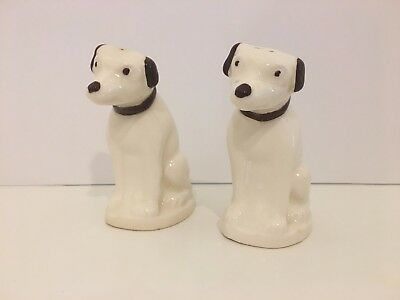 EUC Vintage 1950s RCA Victor His Master's Voice NIPPER Dog Salt & Pepper Shakers