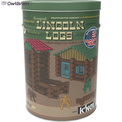 Lincoln Logs Mountaintop Hideout Kids Toy Building Blocks 138 Pieces New Classic