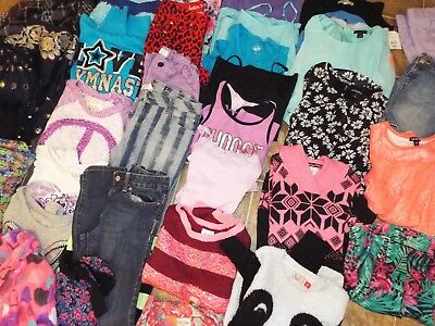 40 Piece Girls 10/12 Mixed Items Lot Tommy Hilfiger Justice