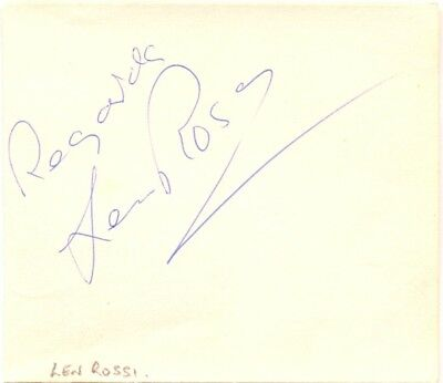 Len Rossi signed autograph album page 1960s American professional wrestler NWA