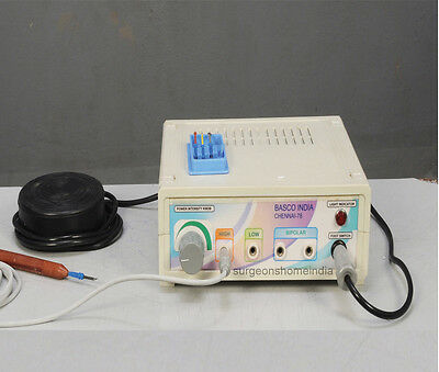 Electro Byfricator Cautery With Unipolar & Bipolar , Foot Swithch Basco B-202