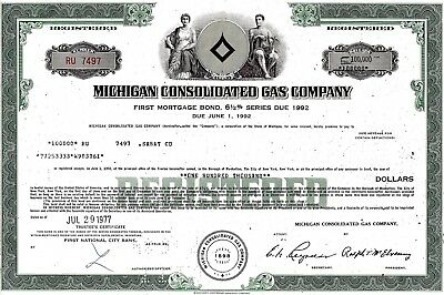 Michigan Consolidated Gas Company, 1977,  6 1/2% Bond due 1992 (100.000 $)