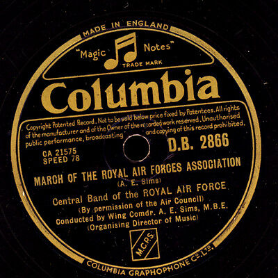 CENTRAL BAND OF THE ROYAL AIR FORCE March o.t. Royal Air Forces AssociationS6834