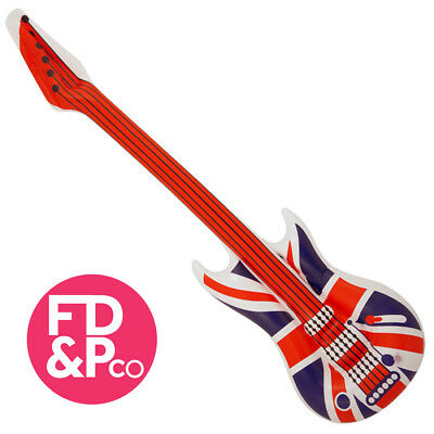 Inflatable Union Jack Guitar - 106cm - Pinata Toy Loot/Party Bag Fillers Wedding