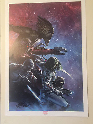 Guardians of the Galaxy #11 PRINT - Signed Dell'Otto - French Panini Marvel