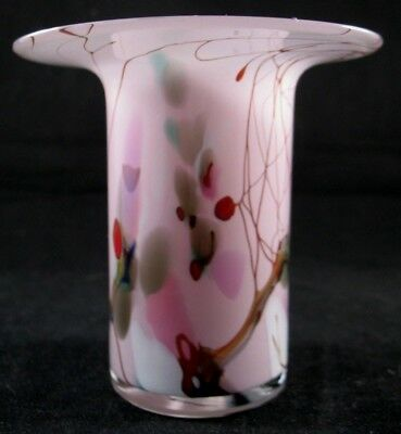 15cms Tall Online Shop North American William Walker Signed And Dated Art Glass Vase Fauna-decoration