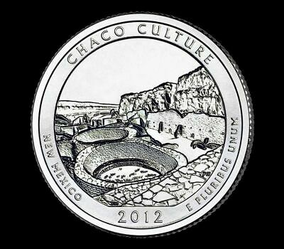 "2012 D Chaco Culture National Park Quarter New Mexico ""BU"" ATB"
