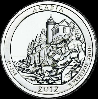 "2012 P Acadia National Park Quarter Maine ""Brilliant Uncirculated"" ATB"