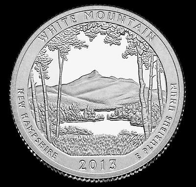 """2013 S White Mountain National Park Quarter New Hampshire """"Uncirculated"""" ATB"""