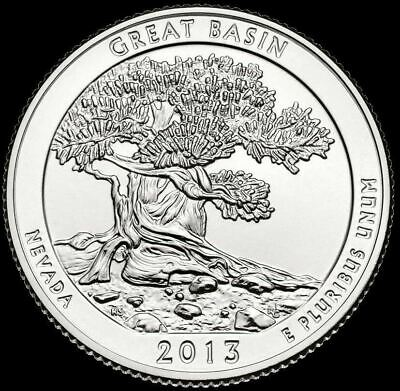 "2013 S Great Basin National Park Quarter Nevada ""Brilliant Uncirculated"" ATB"
