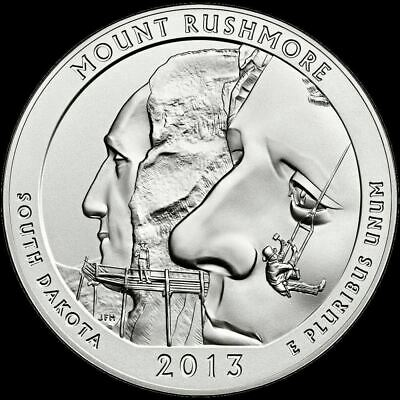 "2013 S Mount Rushmore National Park Quarter South Dakota ""BU"" ATB"