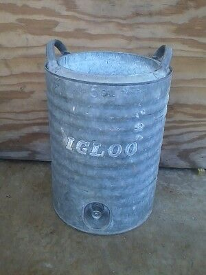 L@@k ~ Cool Vintage Igloo 5 Gallon Galvanized Water Cooler