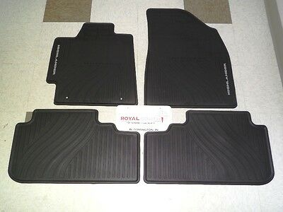 Toyota Highlander 08-13 Factory All Weather Rubber Floor Mats Genuine OEM OE