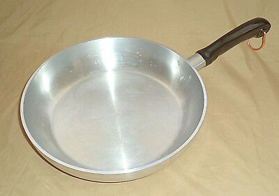 "Large WEAR-EVER Aluminum 10 ½"" Skillet HALLITE ~ Made in the USA"