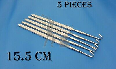 Spay Hook Snook Veterinary Surgical Medical Instruments 5 Pieces Free Ship