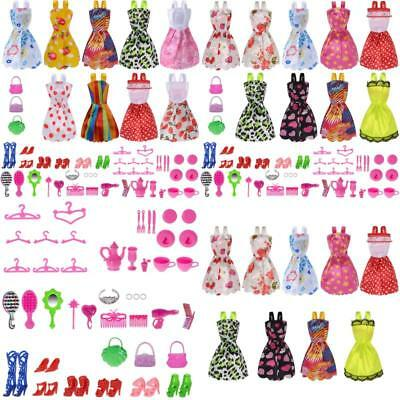 Doll Clothes Party Gown Outfits And Accessories Barbie Girl For Christmas Gift